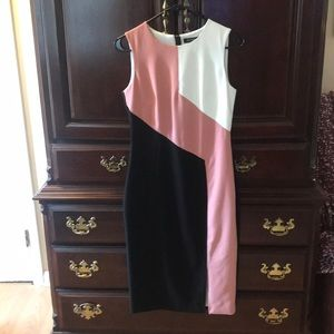 Black White and Pink Sheath Dress from WHBM